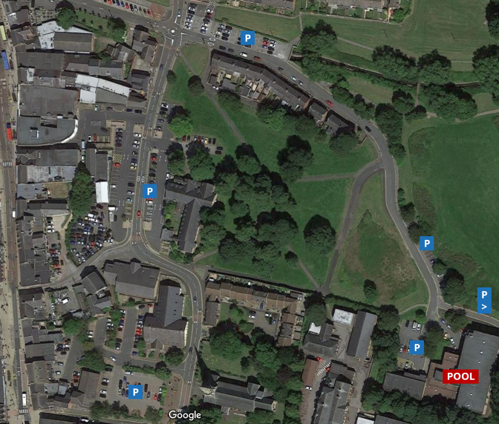 Map of surrounding car parks